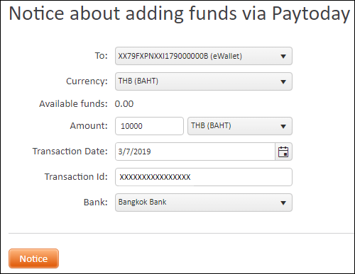 Notice about payment via PayToday | FXOpen Helpdesk