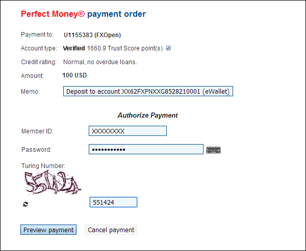 Perfect Money Support